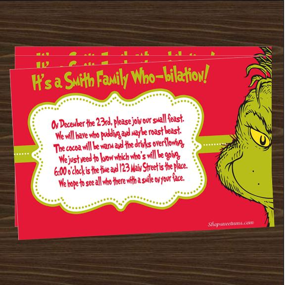 Grinch Invitations